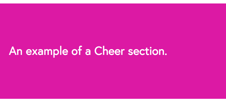 A Section Cheer